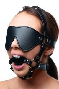 STRICT EYE MASK HARNESS W/ BALL GAG