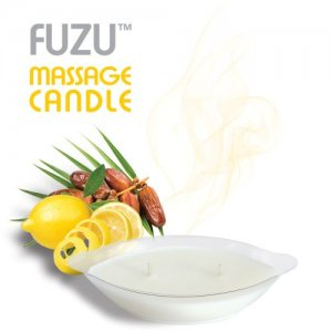 FUZU MASSAGE CANDLE FIJI DATES & LEMON PEEL 4 OZ