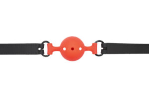 STFU BREATHABLE BALL GAG SMALL BLACK/ORANGE